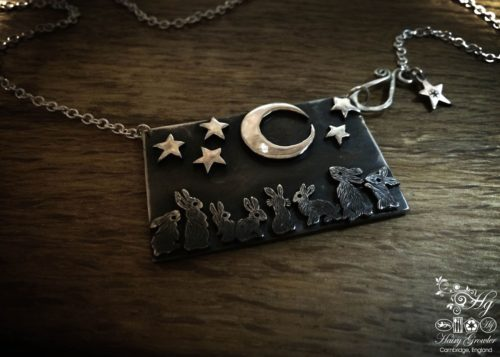 midnight rabbit gathering necklace