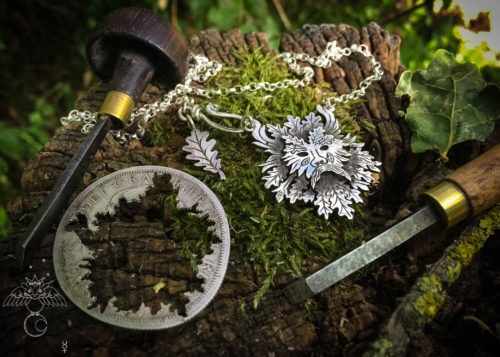 Green man jewellery. The greenman of the woods