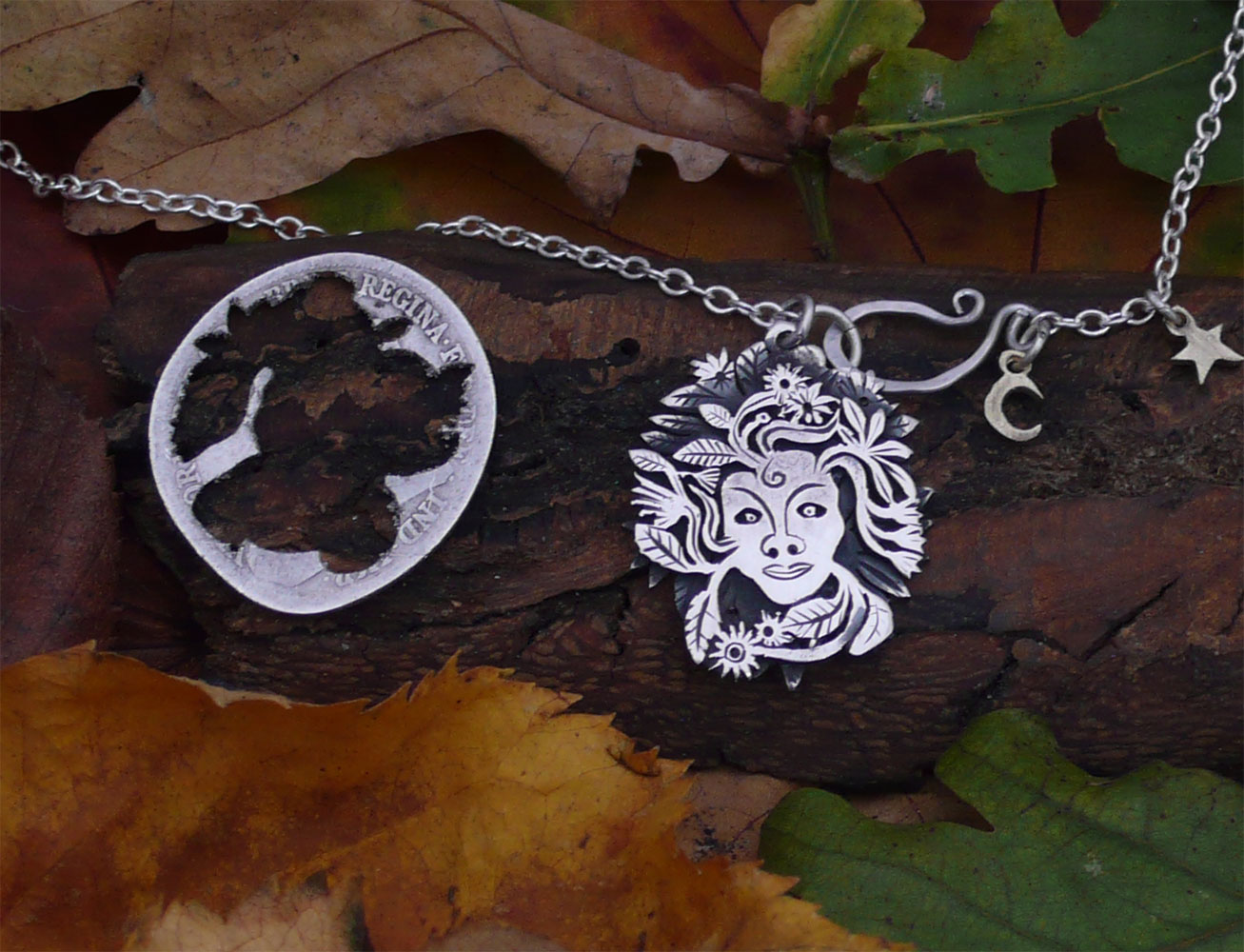 Handmade and recycled using silver coins