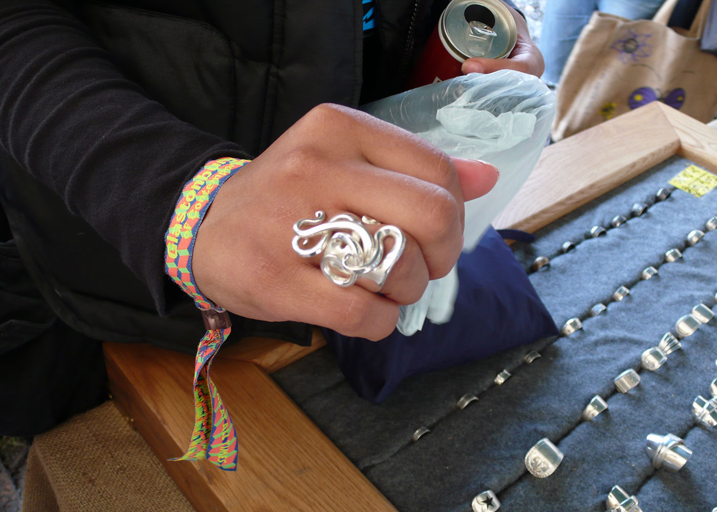 recycled vintage and antique festival fork rings