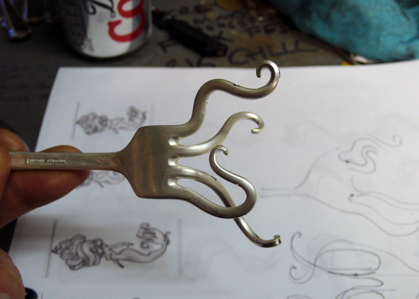 Two forks, entwined forever...in progress