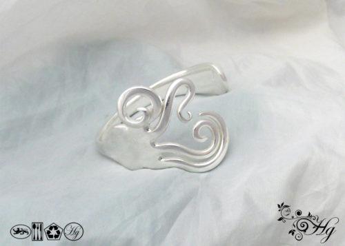 rolling waves fork bracelet