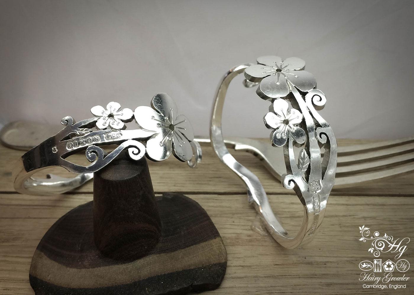 handmade and upcycled fork flower bracelet