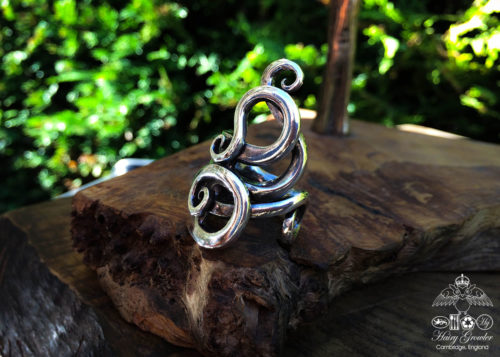 recycled solid silver victorian flatware antique fork rings