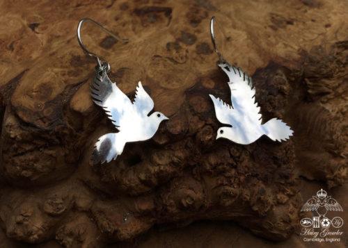 free as a bird recycled spoon earrings Hairy Growler workshop