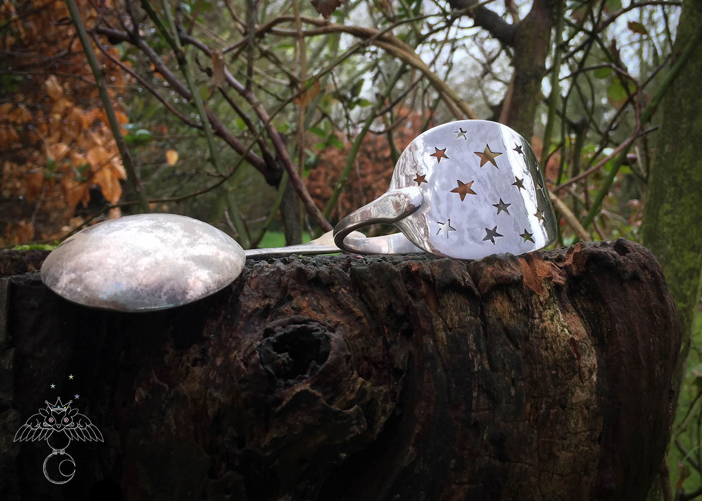 Handmade and recycled star spoon bracelets and bangles