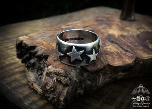handcrafted and ethically manufactured star rings made in Cambridge