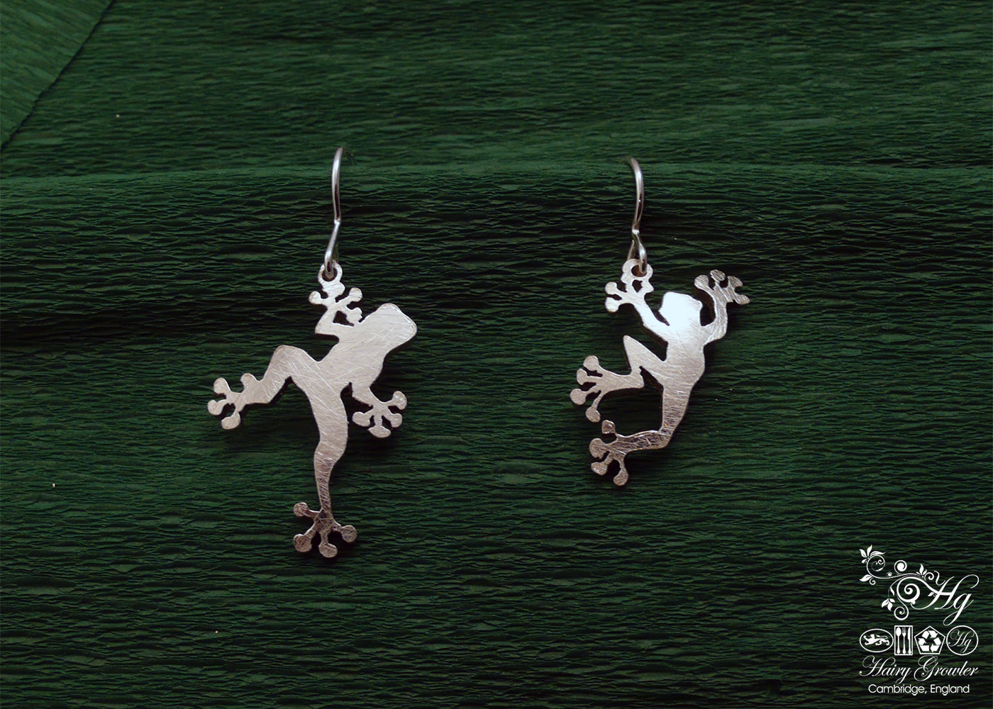 The Official Hairy Growler Jewellery Co. Cambridge - handcrafted and recycled spoon frog earrings