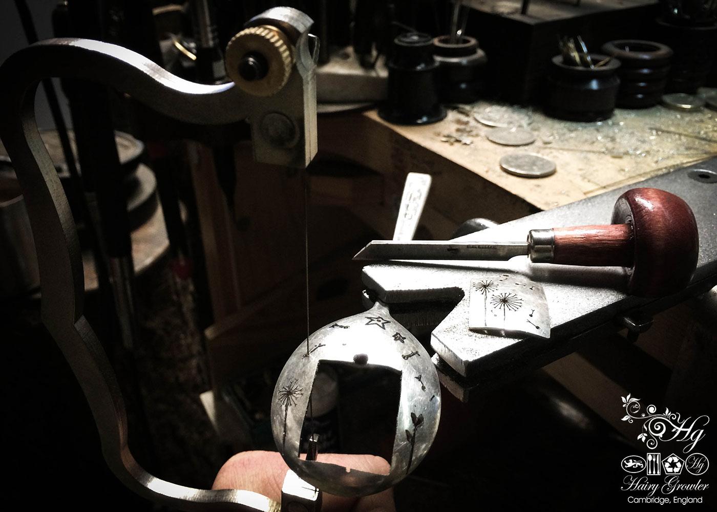 Artisanal, bespoke, ooak and repurposed dandelion clock necklace
