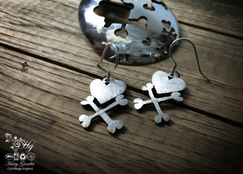 handcrafted and upcycled spoon pirate earrings