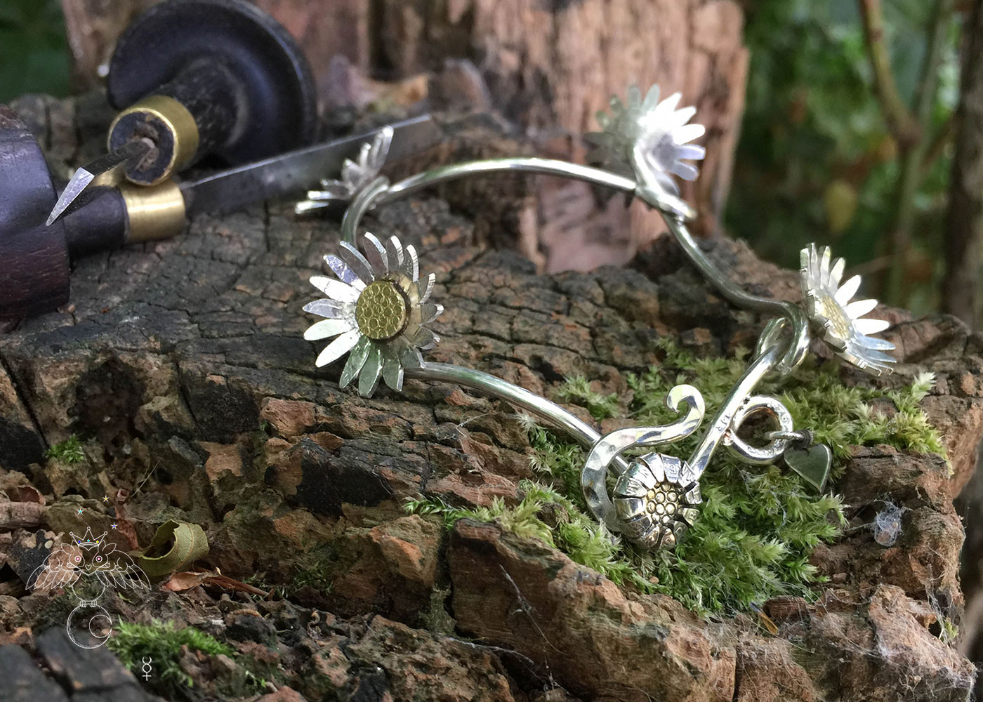 Daisy chain jewellery - handmade and Recycled silver threepence and sixpences