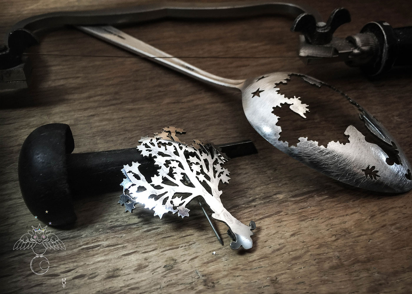tree of life jewellery - handmade and recycled antique spoon