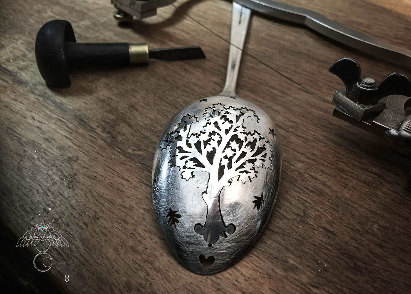 World tree jewellery - handmade and recycled antique spoon