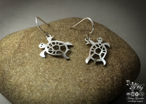 The Official Hairy Growler Jewellery Co. Cambridge - handcrafted and recycled spoon turtle earrings
