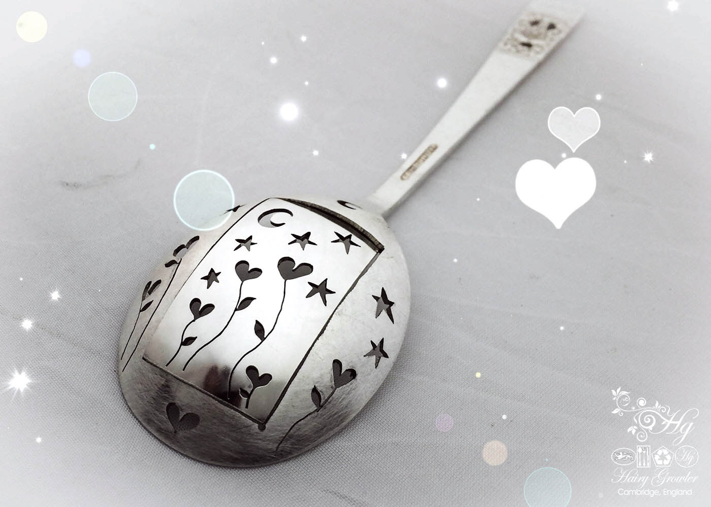 handcrafted and recycled spoon love heart grows brooch