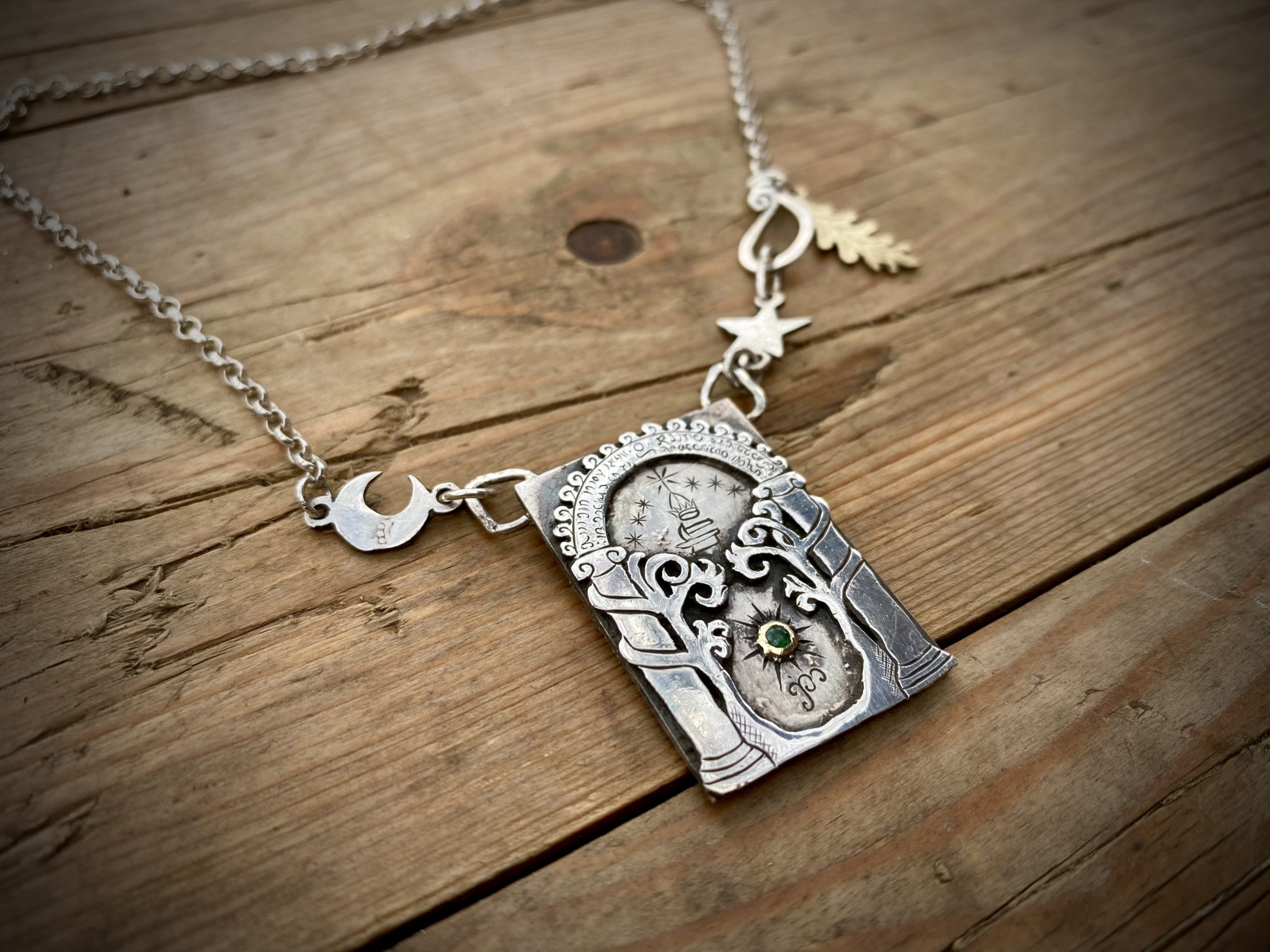The Gates of Moria - Recycled sterling silver Half Crown coins