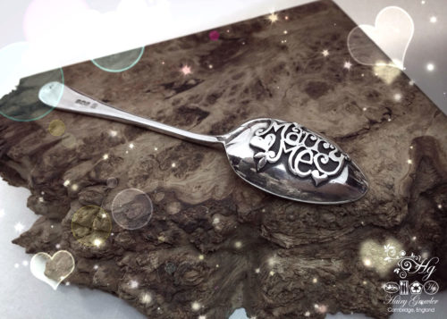 The Star Crossed Lovers collection - handmade and recycled sterling silver 'popping the question' proposal spoon