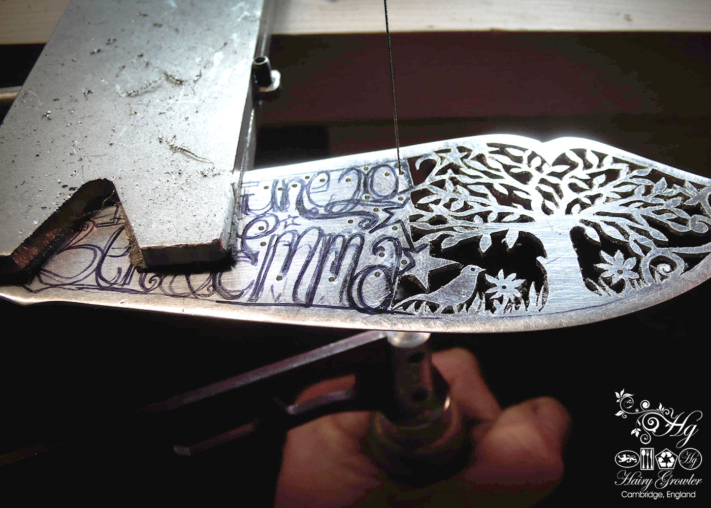 bespoke hand crafted and upcycled wedding-cake-knife