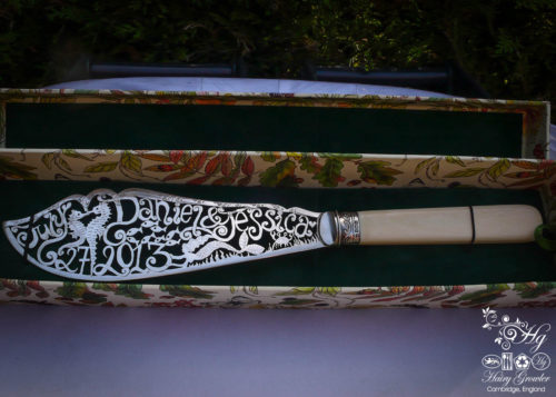 bespoke hand crafted and upcycled wedding-cake-knife