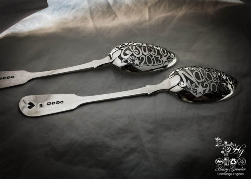 bespoke birth record naming ceremony spoon, handmade to custom order