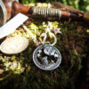 Moon gazing hare coin jewellery handmade, handcrafted using recycled silver coins and traditional hand tools and techniques. Combined with a love for nature, the natural world and our connection to it.