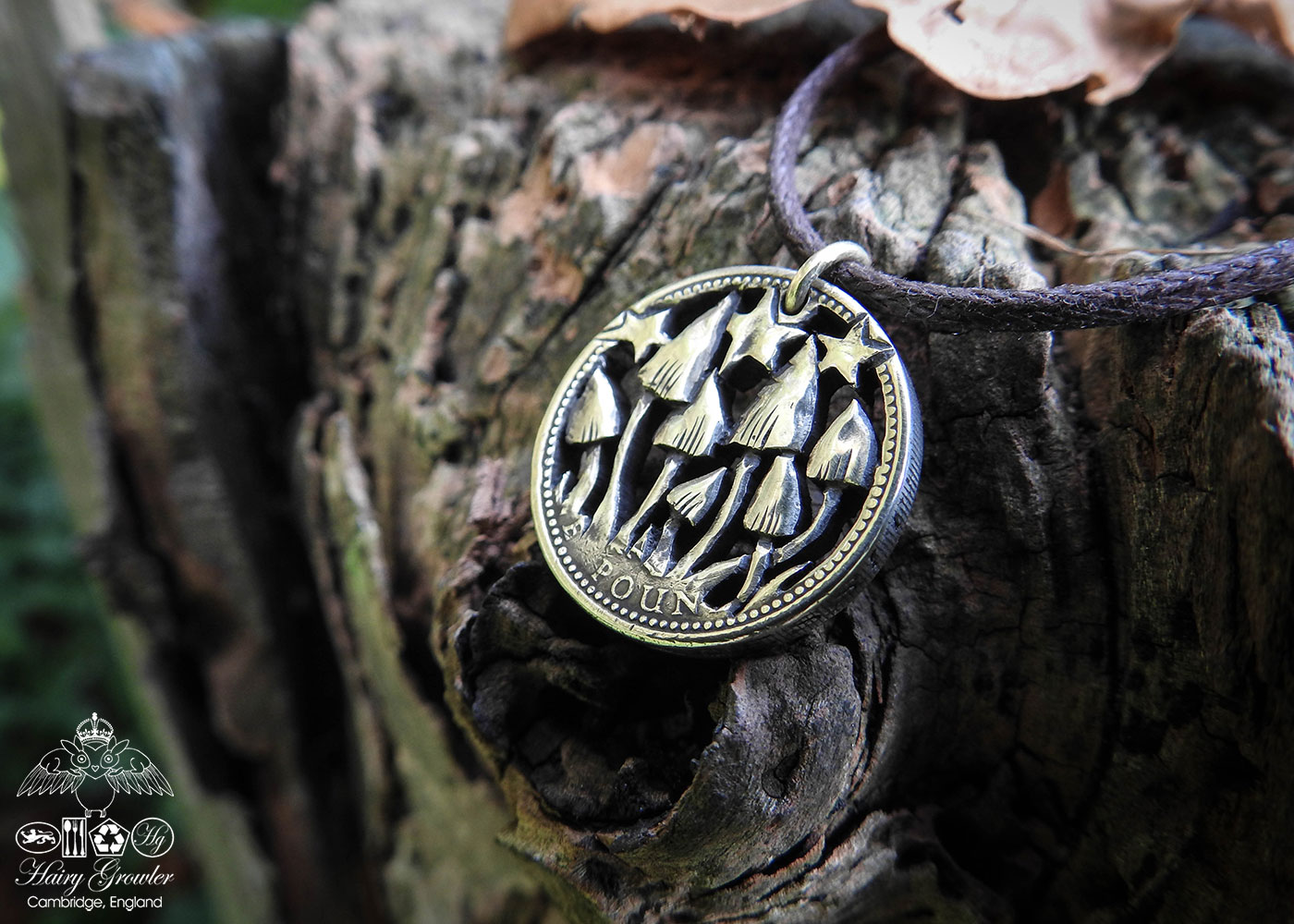 Hand Crafted and cut one pound coin pendants created from old, out of circulation pound coins, totally original and unique