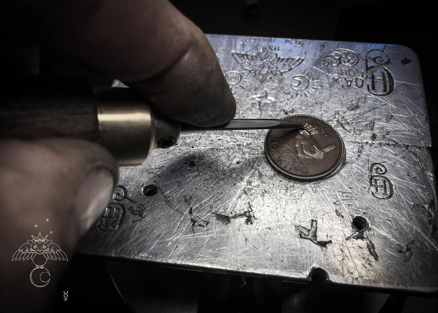 Jenny wren coin jewellery
