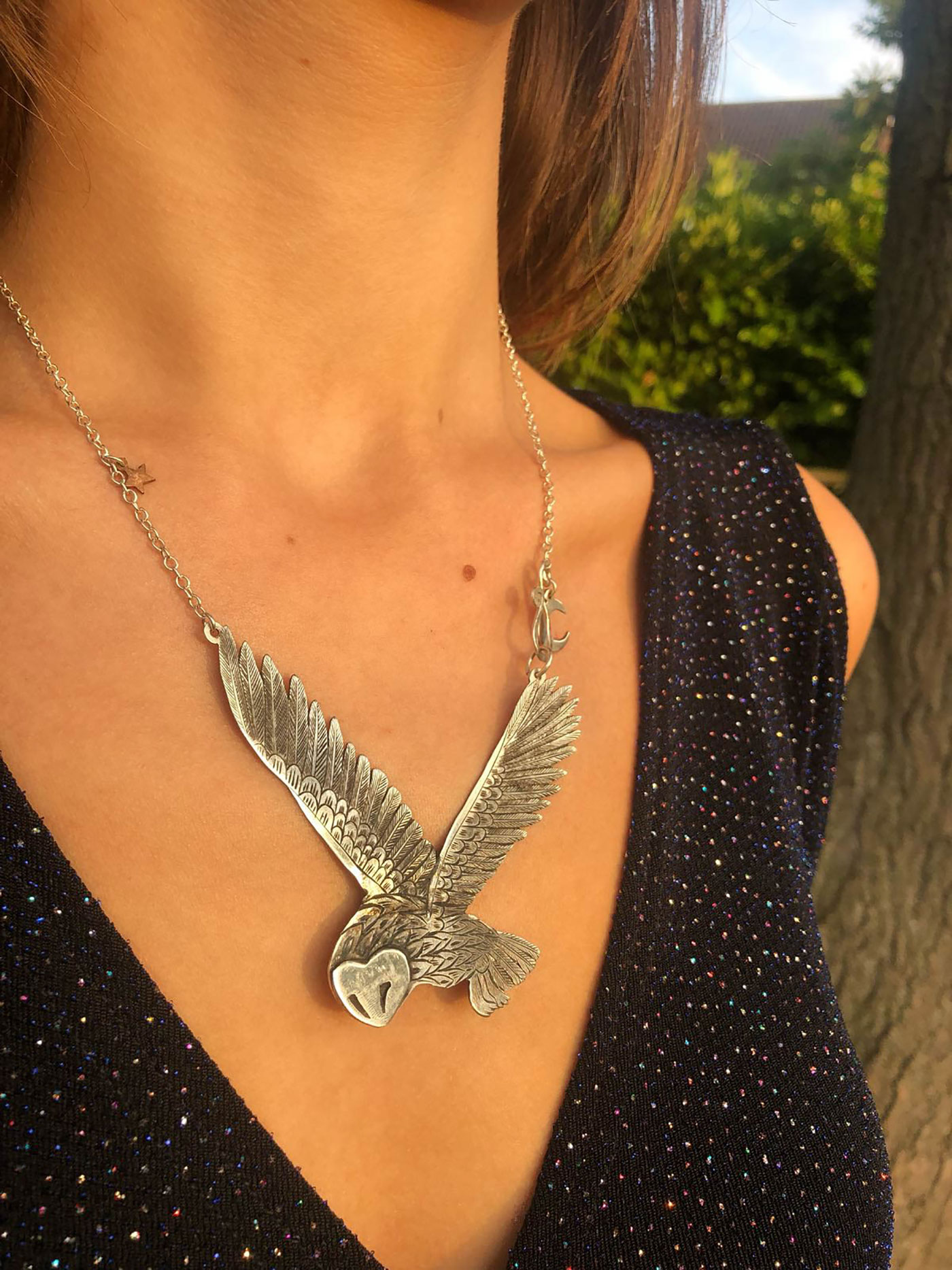 Owl jewellery - ethical handcrafted and recycled jewellery made by independent artisan workshop in Cambridge England