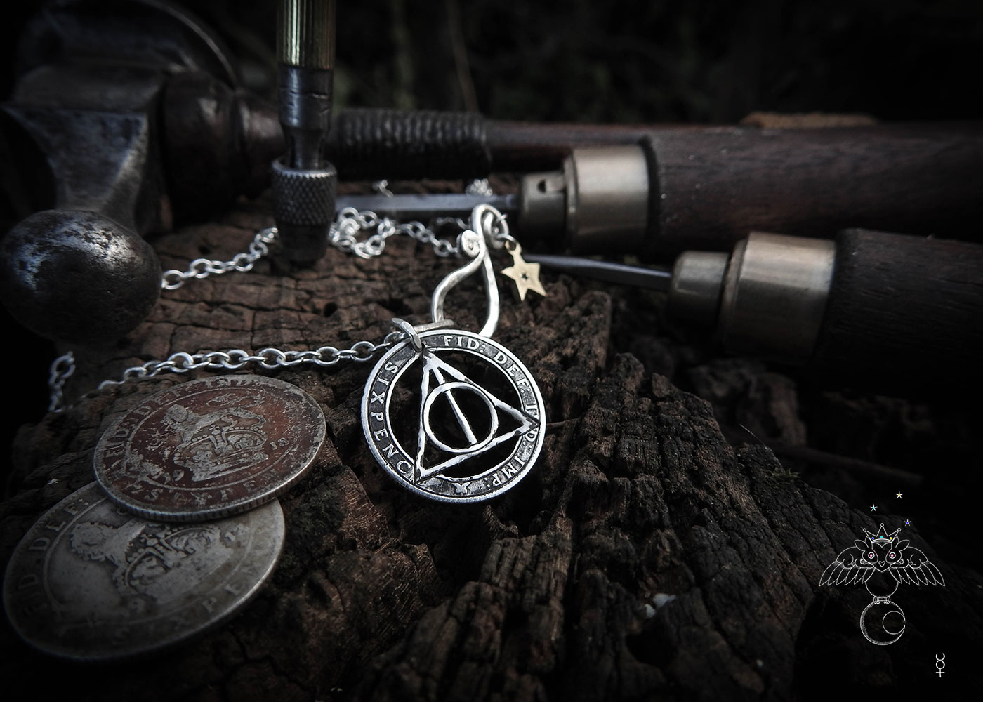 The Deathly Hallows symbol necklace popularised the little known magick of silver Birch  - The Silver Birch - first of the Tree symbols