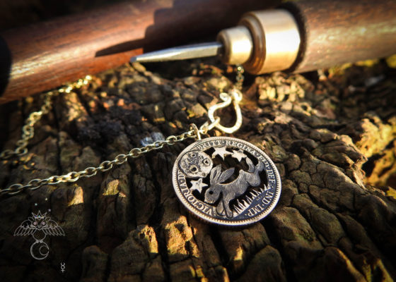 magical leaping hare jewellery - Recycled 22ct solid gold half Sovereign