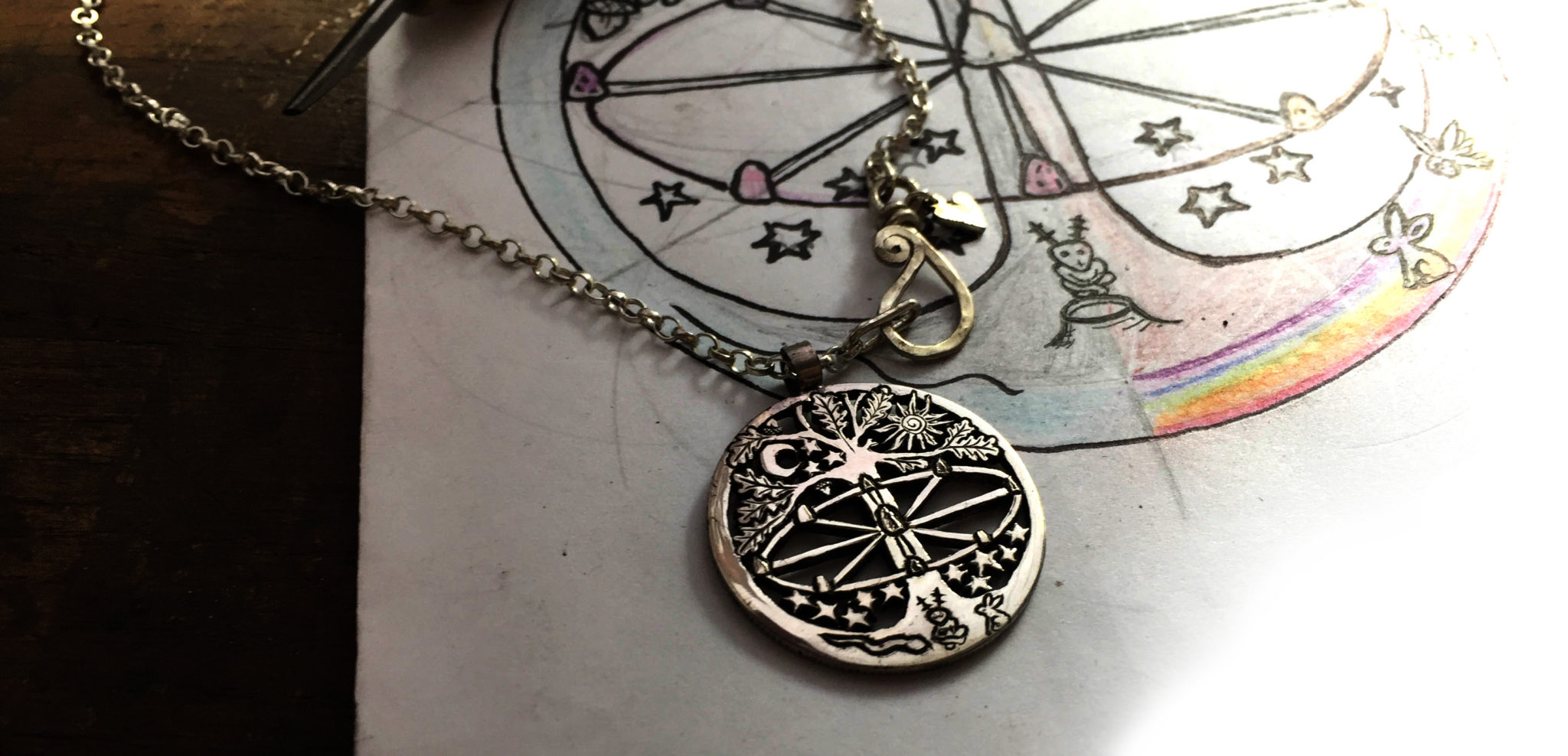 Wheel of the year collection of amulets, talisman and jewellery celebrating the wheel of time
